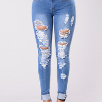 How Low Can You Go Jeans - Medium Wash