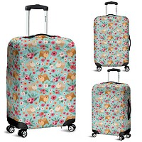 Pomeranian Flower Luggage Cover