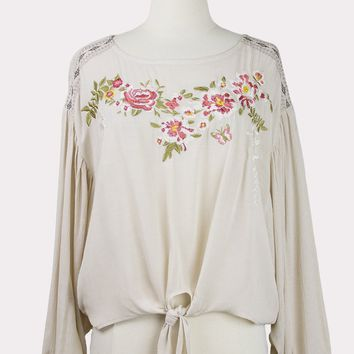 Amelie Embroidered Top