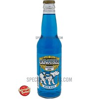 Carousel Gourmet Blue Razzberry Soda 12oz Glass Bottle
