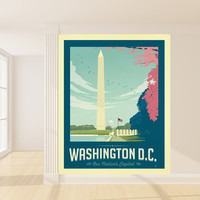 Anderson Design Group's Washington D.C. Mural wall decal