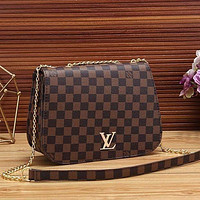 LV fashion leather shoulder bag chain crossbody bag