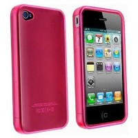 Pink TPU Flexible Case For Apple Iphone 4 4G