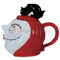 7.5 Inch Nightmare Before Christmas Sally Character with Cat Teapot