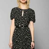 Kimchi Blue Ruby Keyhole Fit & Flare Dress- Black Multi 4