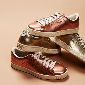 Free People Basket Classic Citi Metallic Court Trainer