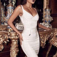 Kierre Crimson  Top Waist Tie Bandage Dress