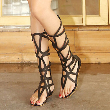 SUMMER STYLE knee high sandals shoes women 2015 fashion women boots sandal shoes woman sexy summer women shoes gladiator sandals