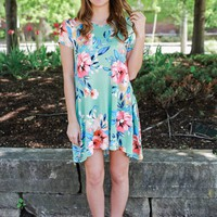 Throw On & Go Dress - Honeydew