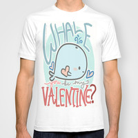 Whale You Be My Valentine T-shirt by xjen94