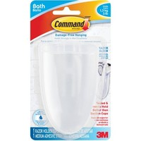 Command Toothbrush & Razor Holder, Frosted, BATH16 - Walmart.com