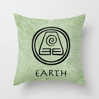 Avatar Last Airbender Elements - Earth Throw Pillow by briandublin | Society6