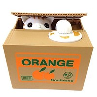 Cute Automatic Stealing Coin Cat Kitty Money Box