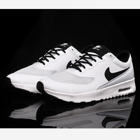 NIKE Women Men Running Sport Casual Shoes Sneakers Fashion White black hook