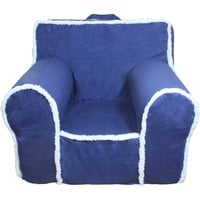 Blue Sherpa Chair Cover for Foam Childrens Chair