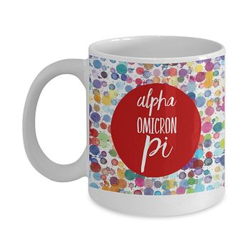 Greek Sorority Mug - Alpha Omicron Pi - 11 oz Gift Mug
