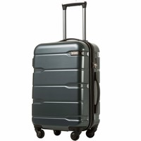 """Coolife Luggage Expandable(28"""") Suitcase PC+ABS Spinner 20in 24in 28in Carry on"""