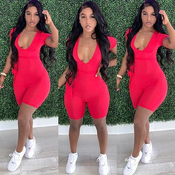 Perfect Fit Romper Spicy Red