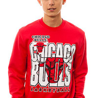Mitchell & Ness The Chicago Bulls Crewneck Sweatshirt in Red : Karmaloop.com - Global Concrete Culture