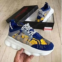 VERSACE chain reaction Multicolor Sneakers Stitching Sports Leisure sports shoes