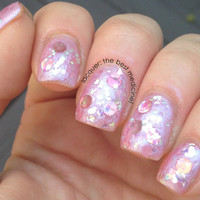 Handmade Nail Polish - IN THE PINK line - Diva Pink -  large bottle - polish - glitter - lacquer - top coat