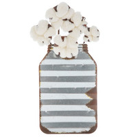 Cotton Mason Jar Metal Wall Decor | Hobby Lobby | 1670108