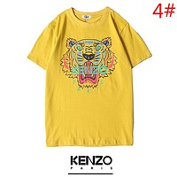 KENZO Fashion New Summer Bust Tiger Letter Print Couple Sports Top T-Shirt