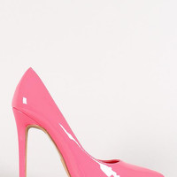 Shoe Republic Patent Pointy Toe Stiletto Pump Color: Red, Size: 6.5