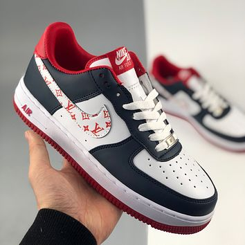 Nike x Louis Vuitton LV Air Force 1 '07 Nike Air Force One Low-Top Sneakers Graffiti Limited Men's and Women's Shoes
