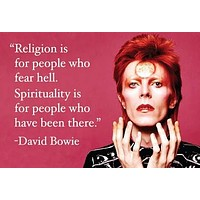 Religion Is For People Who Fear Hell Spirituality Is For People Who Have Been There Rectangular Magnet