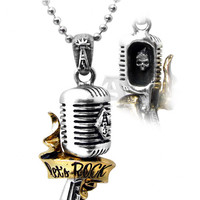 Let's Rock Microphone Pendant