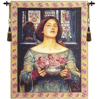 Offering the Roses Tapestry Wall Hanging