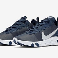 HCXX 19Aug 121 Nike React Element 55 Midnight Navy BQ6166-401 Casual Sports Running Shoes