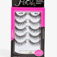 747 Med Length 5 Pair Eyelash Set