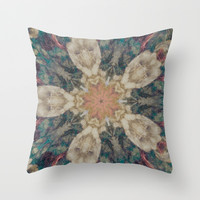 Vintage Abstract Design Throw Pillow by Elizabeth Thomas Photography of Cape Cod