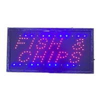 Neon Lights LED Animated Fish Chips Attractive Sign Store Shop Sign 110V