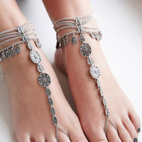 Etched Foot Chain
