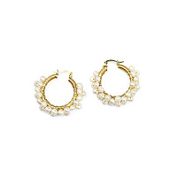 Wired Pearls Hoops