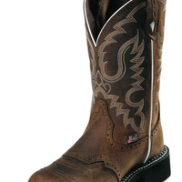 """Justin Gypsy 11"""" Brown Aged Bark Cowgirl Boots L9909"""
