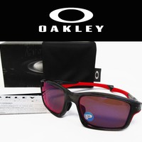 OAKLEY Chainlink Asia Fit Grey Smoke/ OO Red Irid Polarized Sunglasses OO9252-08