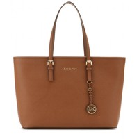 michael michael kors - medium jet set travel leather tote