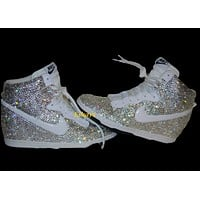 Dunks Mail In- Swarovski Crystals Nike Dunk Sky Hi Sneakers for Women