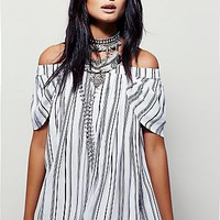 MLM x Free People Womens Willow Striped Dress
