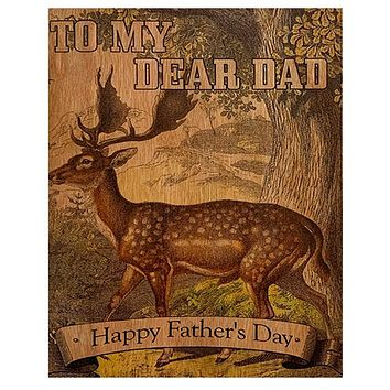 Wood Card Dear Dad