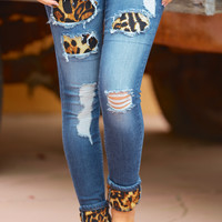 Something Bad Skinny Jeans - Leopard