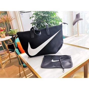 NIKE 2019 new shoulder bag shoulder bag men and women tote bag canvas bag Black
