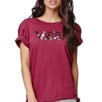 Vans Boyfriend T-Shirt - Womens Tee - Red
