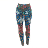 "Jolene Heckman ""Floral Arrangements"" Brown Flowers Yoga Leggings"