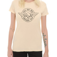 Fall Out Boy Winged Skull Girls T-Shirt