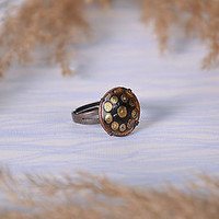 Copper handmade ring metal beautiful jewelry useful stylish women accessories